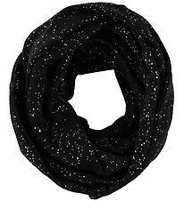 Little Wonders Tube Scarf - Anna - Black w. Silver Dots