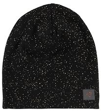 Little Wonders Beanie - Anna - Black w. Silver Dots