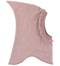 Little Wonders Balaclava - Double Layer - Dusty Rose w. Silver D