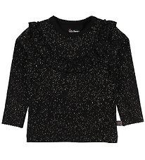 Little Wonders Blouse - Celine - Black w. Gold Dots