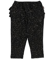 Little Wonders Leggings - Abigail - Black w. Gold Dots