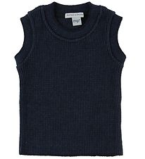 MP Knitted Slip-Over - Wool/Cotton - Navy