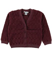 MP Cardigan - Wool/Cotton - Bordeaux w. Glitter