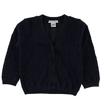 MP Cardigan - Wool/Cotton - Navy w. Glitter