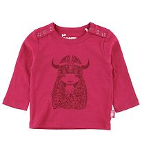 Danefæ Long Sleeve Top - Parsley - Love Pink w. Freja Nouveau