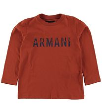 Emporio Armani Long Sleeve Top - Ginger w. Print