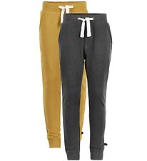 Minymo Sweatpants - 2-pack - Mustard/Charcoal