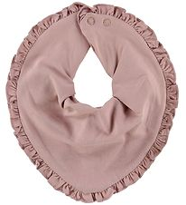 Little Wonders Teething Bib - Allie - Dusty Rose w. Ruffles