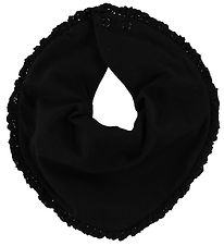 Little Wonders Teething Bib - Allie - Black w. Ruffles