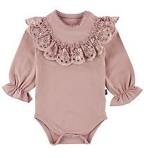 Little Wonders Body l/s - Ella - Dusty Rose w. Lace