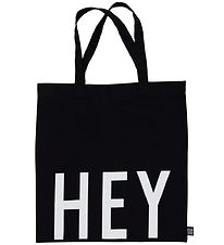Design Letters Tote Bag - HEY - Black