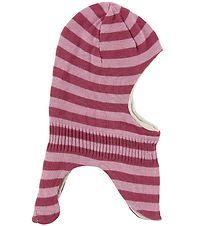 Color Kids Balaclava - Double Layer - Denice - Rose Stripes