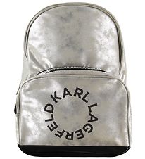 Karl Lagerfeld Backpack - Silver w. Print