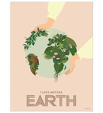 Vissevasse Poster - 50x70 - I Love Mother Earth