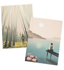 Vissevasse Notebooks - 2-pack - A5 - Lotus/Into The Woods