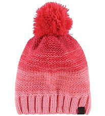 Color Kids Hat w. Pompom - Seal - Salmon Rose