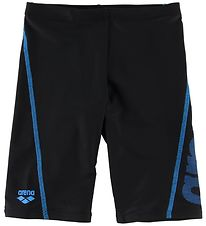 Arena Swim Jammers - Logo JR - Black/Pix Blue