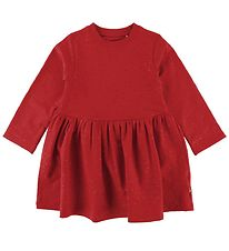 Danefæ Dress - Sweat - Merete - Red w. Hearts/Glitter