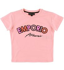 Emporio Armani T-shirt - Rose w. Glitter/Patches