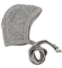 Engel Baby Hat - Wool - Light Grey Melange