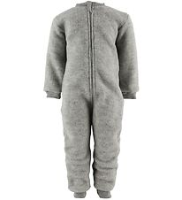 Engel Pramsuit - Wool - Light Grey Melange
