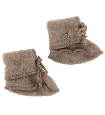 Engel Booties - Wool - Walnut Melange
