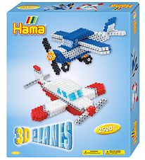 Hama Midi Set - 2500 Beads - 3D - Airplane