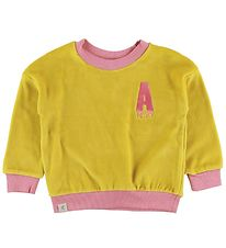 AlbaBaby Sweatshirt - Velour - Estelle - Ceylon Yellow