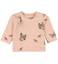Fixoni Long Sleeve Top - Elemental - Cameo Rose w. Butterflies