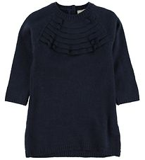 En Fant Dress - Wool - Navy