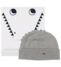 Lacoste Hat m. Gift Box - Knitted - Grey Melange w. Cockscomb