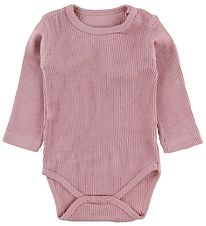 Hust and Claire Bodysuit l/s - Wool/Bamboo - Rose