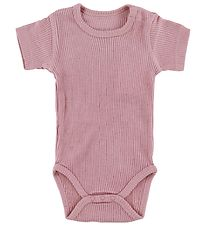Hust and Claire Bodysuit s/s - Wool/Bamboo - Rose