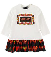 Versace Dress - White w. Hearts