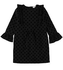 Stella McCartney Kids Dress - Black w. Velvet Dots