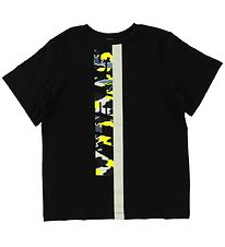 Stella McCartney Kids T-shirt - Black/Bright Yellow w. Camo