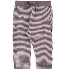 Joha Trousers - Bamboo - Purple/Lavender Striped