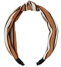 Lehof Hairband - Line - Orange w. Stripes