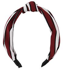 Lehof Hairband - Line - Bordeaux w. Stripes