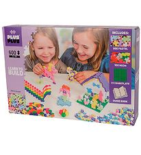 Plus-Plus Mini - 600pcs - Pastel/Neon - Learn to Build