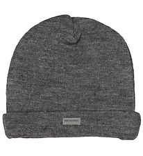 Racing Kids Hat - Wool/Cotton - Grey Melange