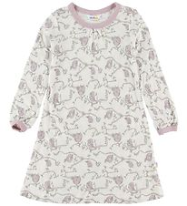 Joha Nightdress - Bamboo - Ivory/Rose Owls