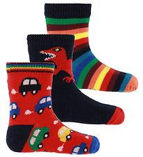 Paul Smith Baby Socks - 3-pack - Va - Navy/Red/Rainbow