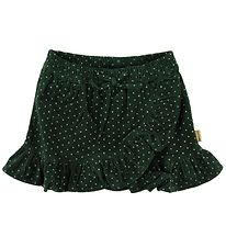 Hust and Claire Skirt - Nora - Corduroy - Dark Green w. Dots