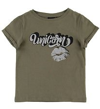 Petit by Sofie Schnoor T-shirt - Liva - Army w. Unicorn