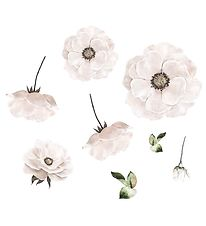 Thats Mine Wallstickers - Poppy Flower - White