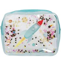 A Little Lovely Company Toiletry Bag - Glitter - Space