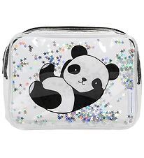 A Little Lovely Company Toiletry Bag - Glitter - Panda