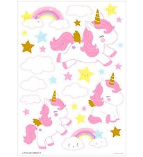 A Little Lovely Company Wallstickers - 35x50 cm - Unicorn Gold