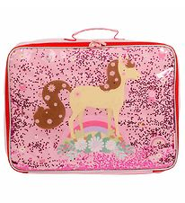 A Little Lovely Company Suitcase - Glitter - Horse